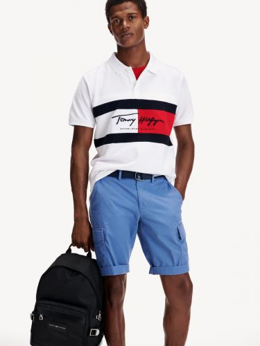 COLOUR-BLOCKED SLIM FIT POLO,MW0MW14159YBR