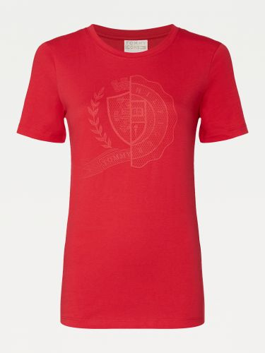 TOMMY ICONS CREST SLIM FIT T-SHIRT,WW0WW28310XLG