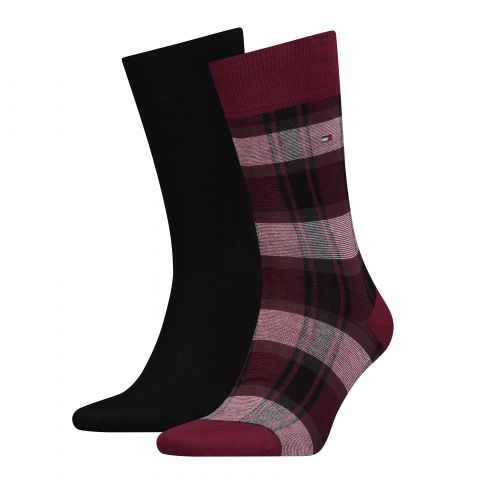 TH MEN SOCK 2P STRIPE PATTERN