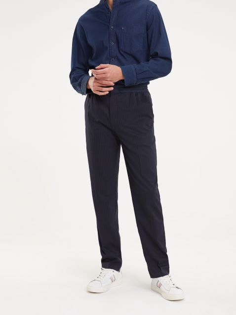 PINSTRIPE JOGGER TROUSERS