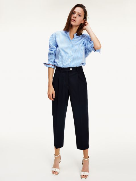 TOMMY ICONS STRETCH WOOL TAPERED TROUSERS