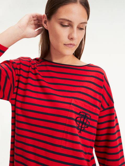 BRETON STRIPE T-SHIRT ESSENTIAL ΜΕ ΜΟΝΟΓΡΑΜΜΑ