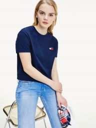 CROPPED T-SHIRT ΜΕ ΣΗΜΑ TOMMY