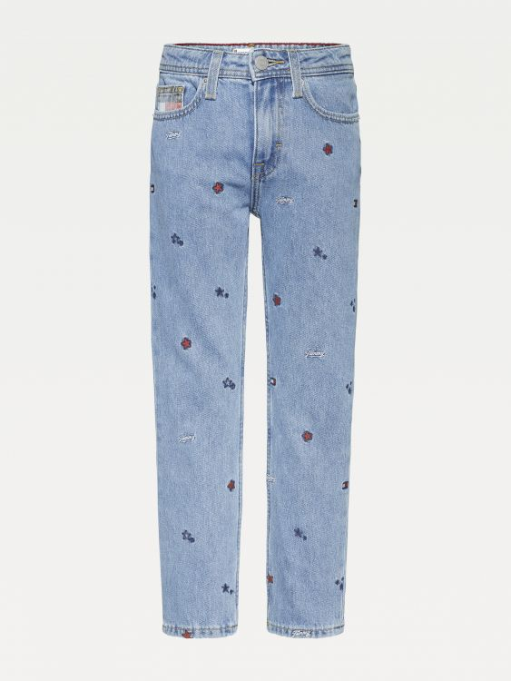 STRAIGHT FIT JEANS ΜΕ ΤΗΝ ΣΗΜΑΙΑ & ΤΑ ΑΣΤΕΡΙΑ
