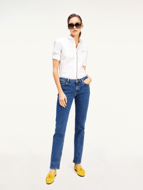 ROME MID RISE STRAIGHT TH SOFT JEANS