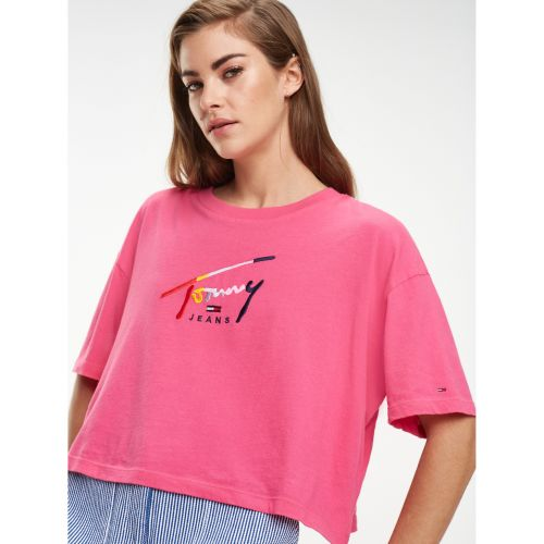 CROPPED T-SHIRT TOMMY JEANS,DW0DW06224573