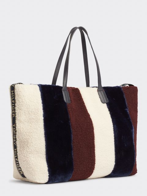 TOMMY ICON STRIPE ΤΣΑΝΤΑ ΩΜΟΥ TOTE,AW0AW075040GG