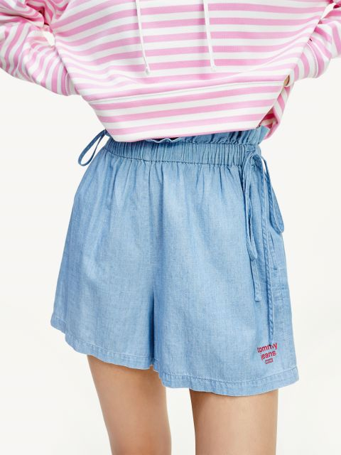 COTTON CHAMBRAY RELAXED FIT SHORTS,DW0DW079831AJ