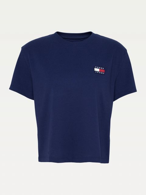 CROPPED T-SHIRT ΜΕ ΣΗΜΑ TOMMY,DW0DW06813C87