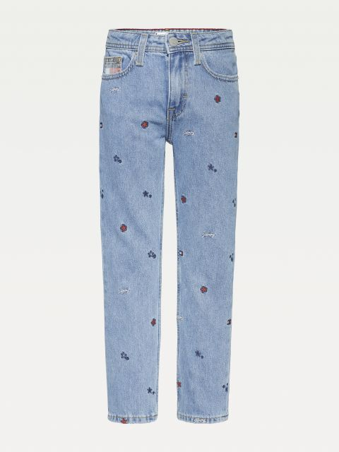STRAIGHT FIT JEANS ΜΕ ΤΗΝ ΣΗΜΑΙΑ & ΤΑ ΑΣΤΕΡΙΑ,KG0KG053141A4