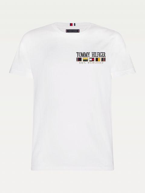 T-SHIRT ΜΕ ΚΕΝΤΗΜΕΝΟ ΛΟΓΟΤΥΠΟ,MW0MW15324YBR